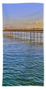 Mumbles Pier And Lifeboat Station Beach Towel