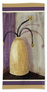 Octillo Branches In An Urn Beach Towel