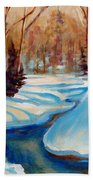 Peaceful Winding Stream Beach Towel