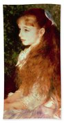 Portrait Of Mademoiselle Irene Cahen D'anvers Beach Towel