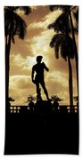 Replica Of The Michelangelo Statue At Ringling Museum Sarasota Florida Beach Towel