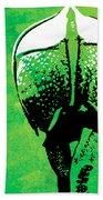 Rhino Animal Decorative Green Poster 6 - By  Diana Van Beach Towel