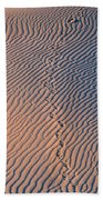 Tracks At First Light In Death Valley Beach Towel