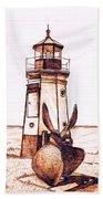 Vermilion Lighthouse Beach Towel