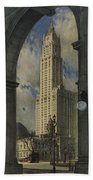 View Of The Woolworth Building Beach Towel