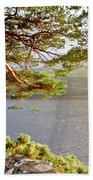 Warmth  Of The Pine Branch. Beach Towel