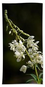 White Fireweed Beach Towel