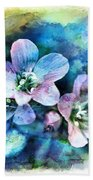 Wildflowers 5  -  Polemonium Reptans - Digital Paint 4 Beach Towel