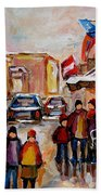 Winter Walk In Montreal Beach Towel