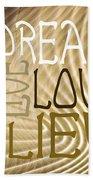 Words Of Love 6 Beach Towel