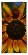 Yellow Sun Flower Beach Towel