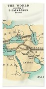 World Map, C300 B.c Beach Towel