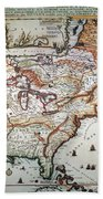 New France, 1719 Beach Towel