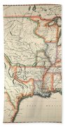 Map: United States, 1820 Beach Towel