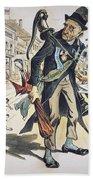 Prohibition  Cartoon, 1889 Beach Towel