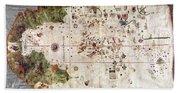 Nina: World Map, 1500 Beach Towel