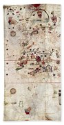 Nina: World Map, 1500 Beach Towel