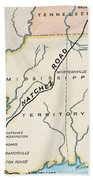 Natchez Trace, 1816 Beach Towel