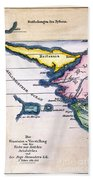 Atlantis: Map, 1831 Beach Towel