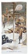 Electricity Cartoon, 1889 Beach Towel