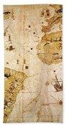 Vespucci's World Map, 1526 Beach Towel