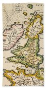 Map Of Great Britain, 1623 Beach Towel
