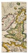 Map Of Great Britain, 1623 Beach Towel