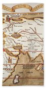 Waldseemuller: World Map Beach Towel