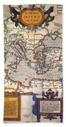 Map Of The Roman Empire Beach Towel