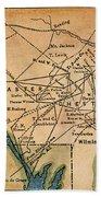 Underground Railroad Map Beach Towel