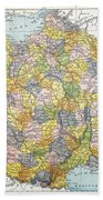 Map Of France, C1900 Beach Towel