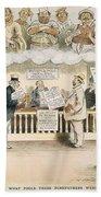 Foolish Forefathers, 1894 Beach Towel