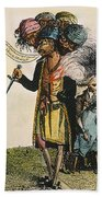 Cartoon: French War, 1798 Beach Towel