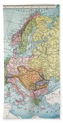 Map: Europe, 1885 Beach Towel