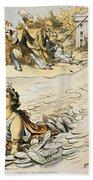 Free Silver Cartoon, 1890 Beach Towel
