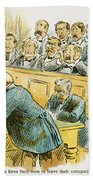 Litigation Cartoon Beach Towel