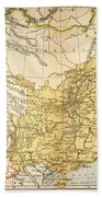 Map: China, 1910 Beach Towel