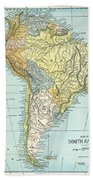 South America: Map, C1890 Beach Towel
