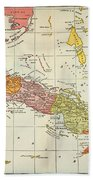 Map: Cuba, 1900 Beach Towel