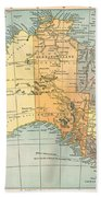 Map: Australia, C1890 Beach Towel