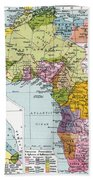 Partitioned Africa, 1914 Beach Towel