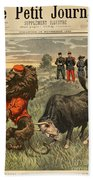 Boer War Cartoon, 1899 Beach Towel