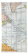 Map: Atlantic Voyages Beach Towel