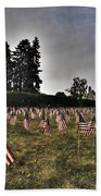 01 Flags For Fallen Soldiers Of Sep 11 Beach Towel