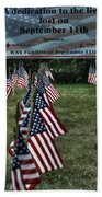 010 Flags For Fallen Soldiers Of Sep 11 Beach Towel