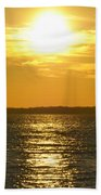 010 Sunset 16mar16 Beach Towel