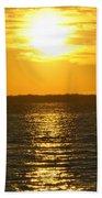 013 Sunset 16mar16 Beach Towel