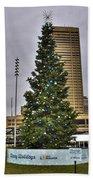 02 Happy Holidays From First Niagara Beach Towel
