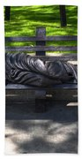 02 Homeless Jesus By Timothy P Schmalz Beach Towel