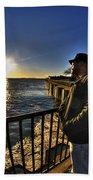 02 Me Sunset 16mar16 Beach Towel